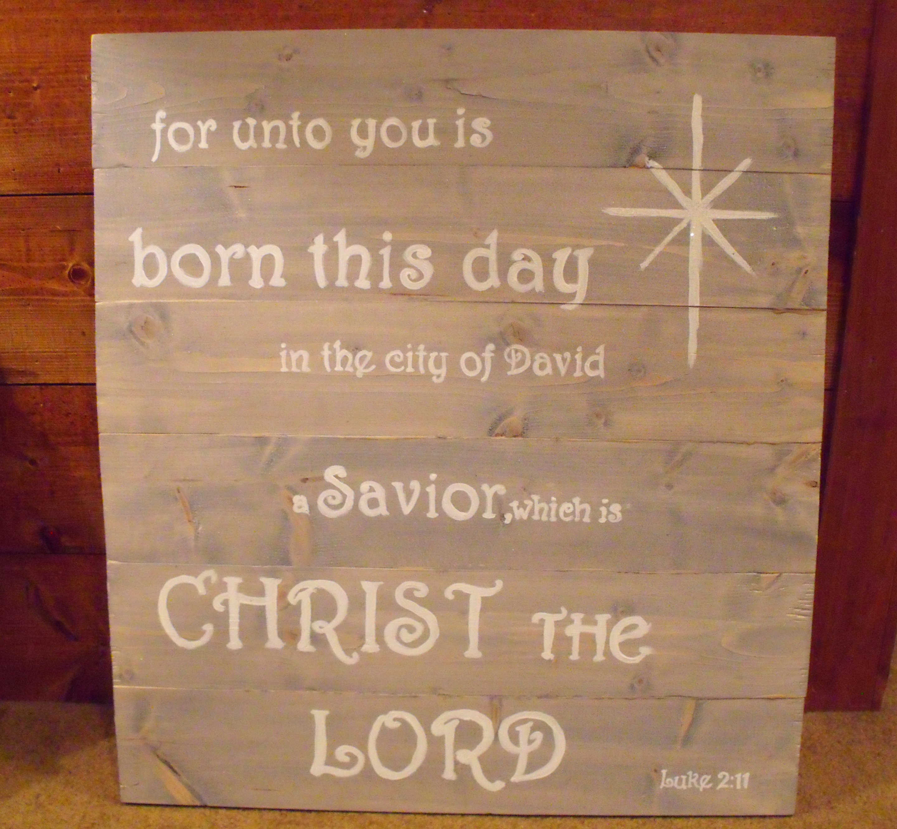 Homemade Wooden Christmas Signs